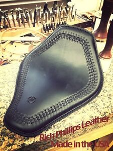 Spring Solo Motorcycle Seat Bobber Chopper Sportster Hand Tooled Rich Phillips H