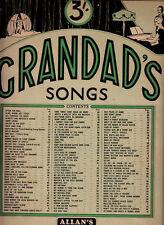 Grandad's Songs-1939-Allan Music-64 Pages-Sheet Music