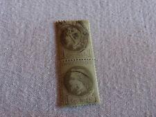 N° 25 - PAIRE de 1 Centime bronze  NAPOLEON III dentelé oblitéré    Timbre