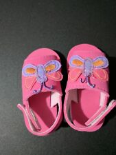 Baby girl sandals lightweight pink size 3-6 months butterfly