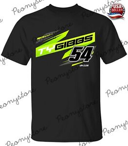 2021 Ty Gibbs Racing Team Collection #2 Black T-Shirt For Fan S-4XL