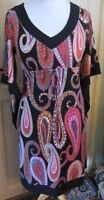 Ronni Nicole - QVC Ladies 'O So Slim' Black & Multi Coloured Dress Size 10 BNWT
