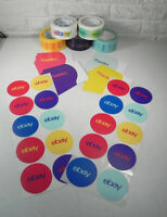 "20 Ebay Branded Thank You Postcards & 3"" Round Stickers 1 Roll Tape 4 Colors"