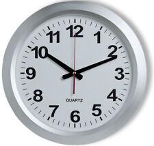 Relojes de pared redonda de color principal plata de batería