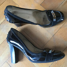 Tods Black Patent Leather 3.5 Inch High Heeled Court Shoes. Size Uk5 Eu38.