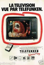 Publicité advertising 1980 Téléviseur Telefunken