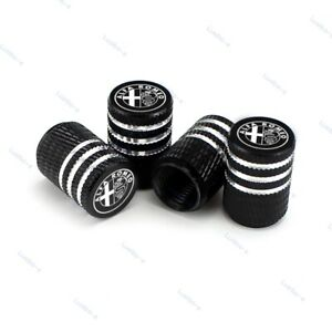 4pcs Car Tire Valve Stem Caps Air Cover Wheel Parts Styling Logo For Alfa Romeo