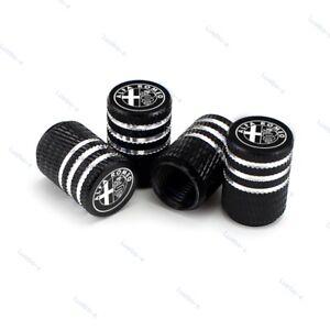 4pcs Car Tire Valve Stem Caps Air Cover Wheel Parts Styling Logo For Alfa Romeo