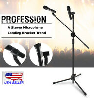 Fast shipping! 1 PC Microphone Mic Stand Foldable Tripod 360-Degree Rotation New