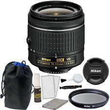Nikon 18-55mm f/3.5 - 5.6G VR AF-P DX Nikkor Lens for Nikon D3300 DSLR Camera
