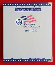 OFFICIAL US MINT COIN ALBUM FOR KENNEDY HALF DOLLARS 1964-1987 - NEW