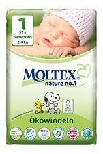 Paquete de 6er 138 St Moltex nature no1 Peanuts ecológica pañales de bebé Newborn talla 1 (2-4 kg)