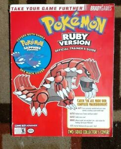 Pokemon Sapphire & Ruby Versions Collector's Cover Bradygame Strategy Game Guide