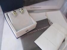 David Yurman Thoroughbred X Shrimp 14K & Sterling Silver Earrings