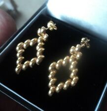 Attractive Vintage 9ct Gold Earrings h/m 1991 Sheffield Import - Pierced Fitting