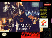 BATMAN RETURNS SNES SUPER NINTENDO GAME COSMETIC WEAR