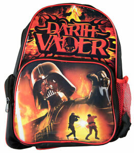 Star Wars Darth Vader Backpack Kids Boys School Book Bag Luggage Toy Disney New
