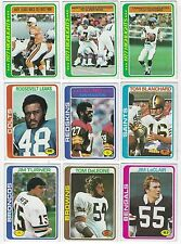 """1978 Topps Football Cards """"PICK FIFTEEN"""" COMPLETE YOUR SET! CHOOSE ANY 15!!"""