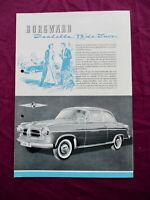 Borgward Isabella TS De Luxe original 1958 Deutsch 4S. Prospekt Brochure