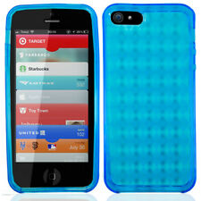 Apple iPhone 5/5S/SE - TPU Crystal Skin Rubber Case - Blue
