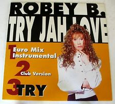 "ROBEY B. - TRY JAH LOVE - TRY - MIX 12"" NUOVO UNPLAYED"