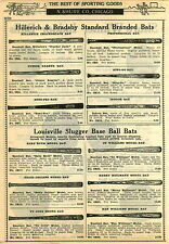 1924 PAPER AD Louisville Slugger Eddie Collins Decal Baseball Bat Ty Cobb B Ruth