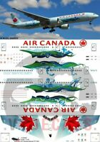 V1 Decals Boeing 777-300 Air Canada for 1/144 Minicraft Model Airplane Kit