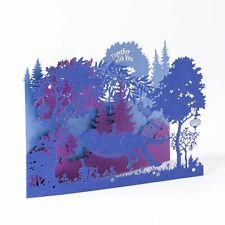 NEW & SEALED Papyrus Laser-Cut Couple in a Hammock Valentine's Day Card $7.95