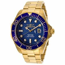 Invicta Men's  Pro Diver 18k Gold Ion-Plated Watch Stainless Steel Mineral