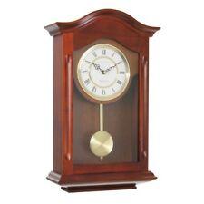 Wood and Metal Pendulum Wall Clock in Walnut 29cm W x 47cm H x 10cm D