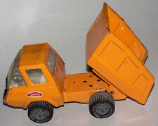Vintage 1960s Tonka Orange Dump Truck Pressed Steel Metal Toy Vehicle