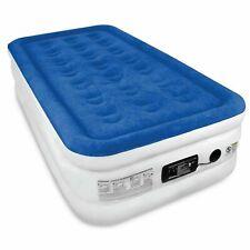 SoundAsleep Twin Dream Series ComfortCoil Air Bed Mattress Beige Blue Travel