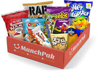 Snack Box w/ International Candy, Chocolate, Gummies, Chips Etc (10 Count)