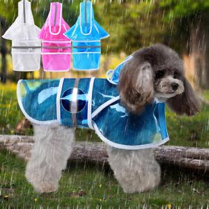 Dog Raincoats Waterproof with Harness Hole Small Medium Summer &Hood Rain Jacket