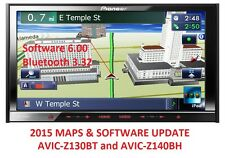 PIONEER AVIC-Z140BH 2015 MAPS UPGRADE + SOFTWARE 6.0 // BLUETOOTH 3.32
