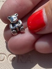 Genuine Pandora Silver Teddy Bear Charm 790395 Retired