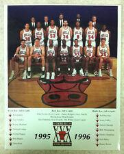 Chicago Bulls 1995-96 Team Photo 8x10 Michael Jordan Pippen Steve Kerr Rodman