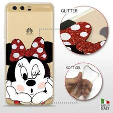 Huawei P10 COVER PROTETTIVA GEL TRASPARENTE GLITTER DISNEY MINNIE MOUSE