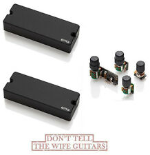 EMG 40DC Active 5 String Bass Soapbar Pickup Set & BQC Tone Control System