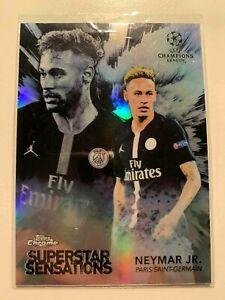 2018-19 Topps Chrome UEFA Champions League Superstar Sensations Neymar Jr.