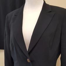 Tahari ASL Black Skirt Suit Womens sz 10 Blazer 29W Career Work Lined