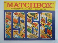 VINTAGE MATCHBOX COLLECTORS CATALOGUE 1968 ISSUE USA EDITION
