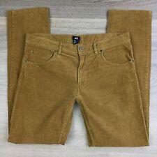 H&M Mustard Corduroy Slim Men's Jeans Size 34 Actual W36 L 32.5 (V15)