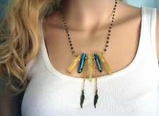 "Sunshine Aura Quartz and Cobalt Aura Quartz 18"" Necklace"
