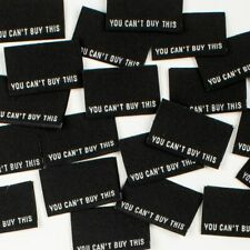 YOU CAN'T BUY THIS Sew In Woven Tags - Clothing Labels pack of 8 by KATM