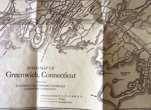 Road Map of the Town of Greenwich Connecticut ca. 1925