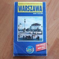 Plan Miasta Warschau Warszawa 1 : 26000 Daunpol Stadtplan City Plan ville 2000