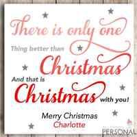 Personalised Christmas Card Wife Husband Girlfriend Boyfriend 1st First Design 2