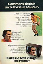 I- Publicité Advertising 1971 Téléviseur couleur télévision Schneider