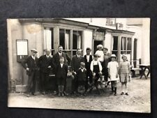 Vintage RPPC Anon. Group #B197: Party Outside Public House: Midland Notice
